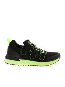Versace Jeans Couture - Fluo sneakers in black