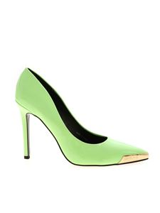 Versace Jeans Couture - Golden detail pumps in green