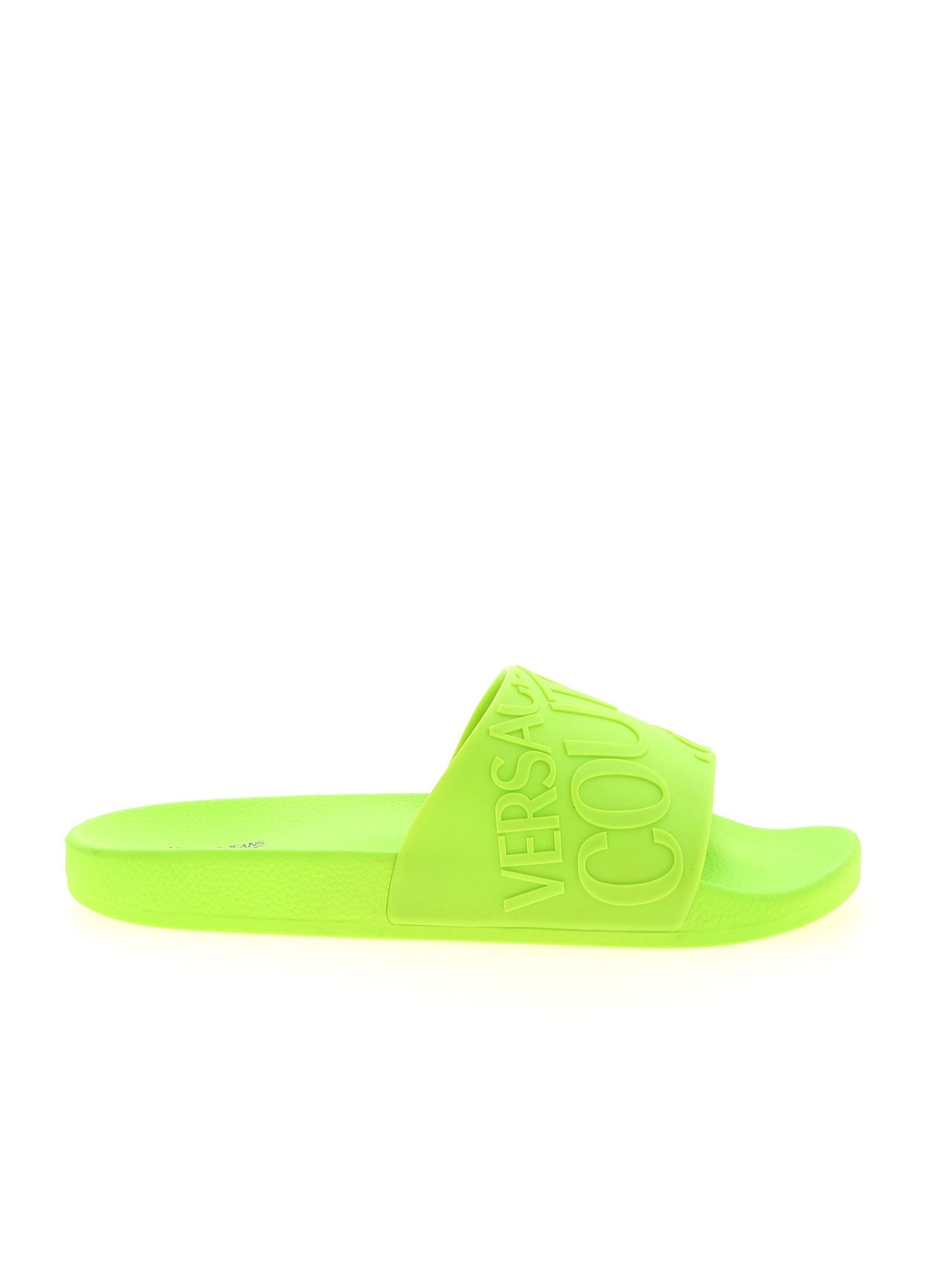Versace Jeans Couture LOGO SLIPPERS IN GREEN