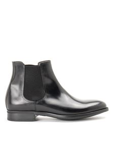 Moreschi - Black smooth leather Chelsea boots