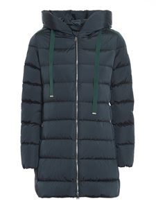 ADD - Matt effect green puffer jacket