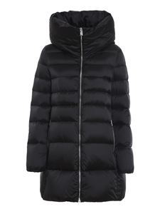 ADD - Black quilted longuette puffer jacket