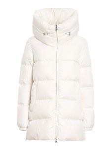 ADD - White quilted longuette puffer jacket