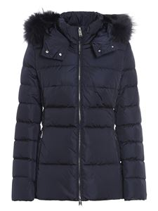 ADD - Blue quilted short padded jacket