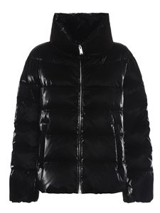 ADD - Patent effect short puffer jacket