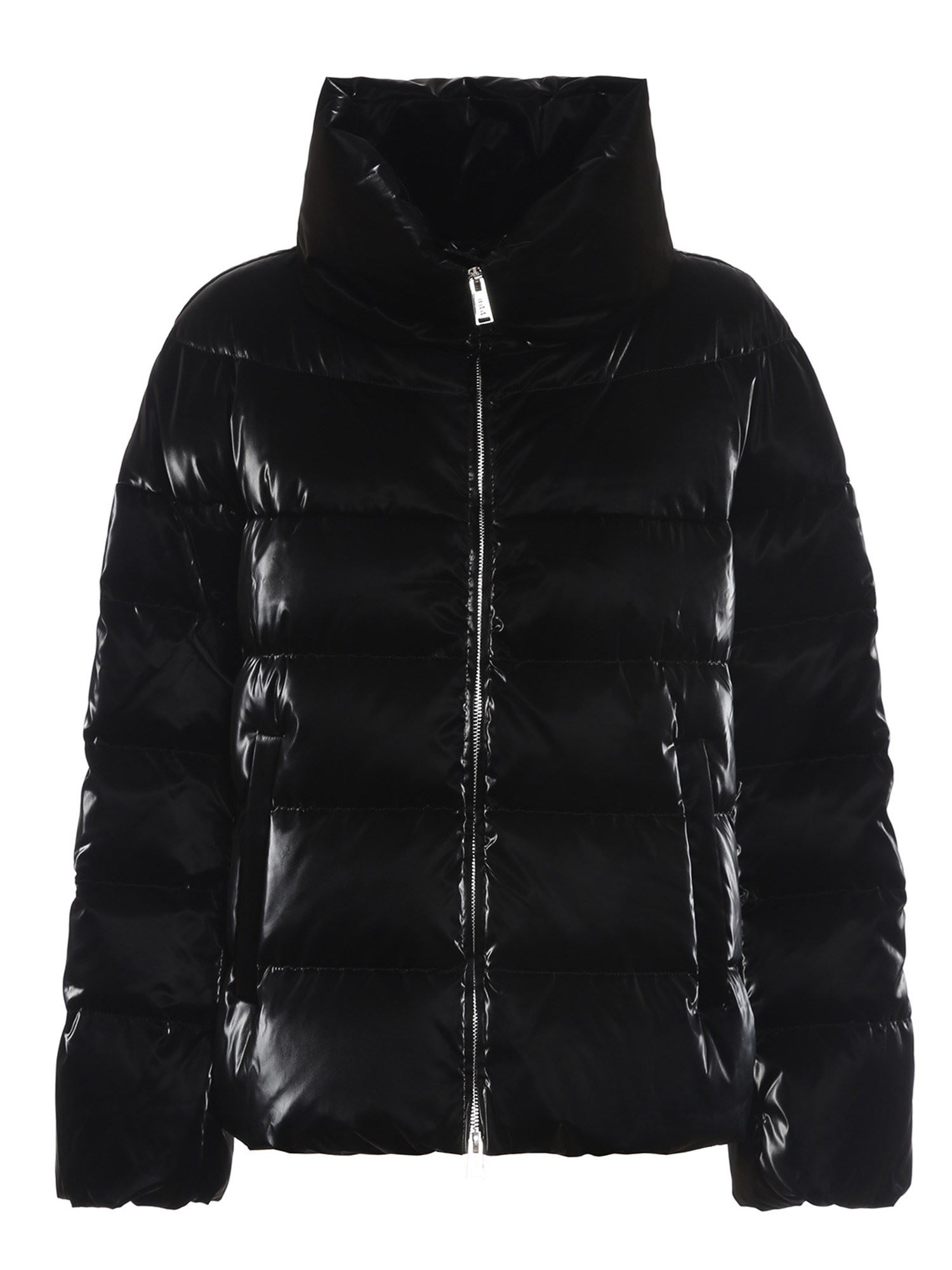 ADD ADD PATENT EFFECT SHORT PUFFER JACKET