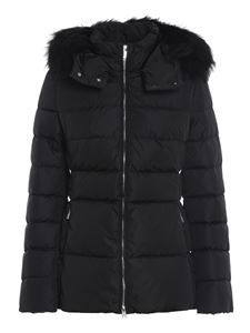 ADD - Black quilted short puffer jacket