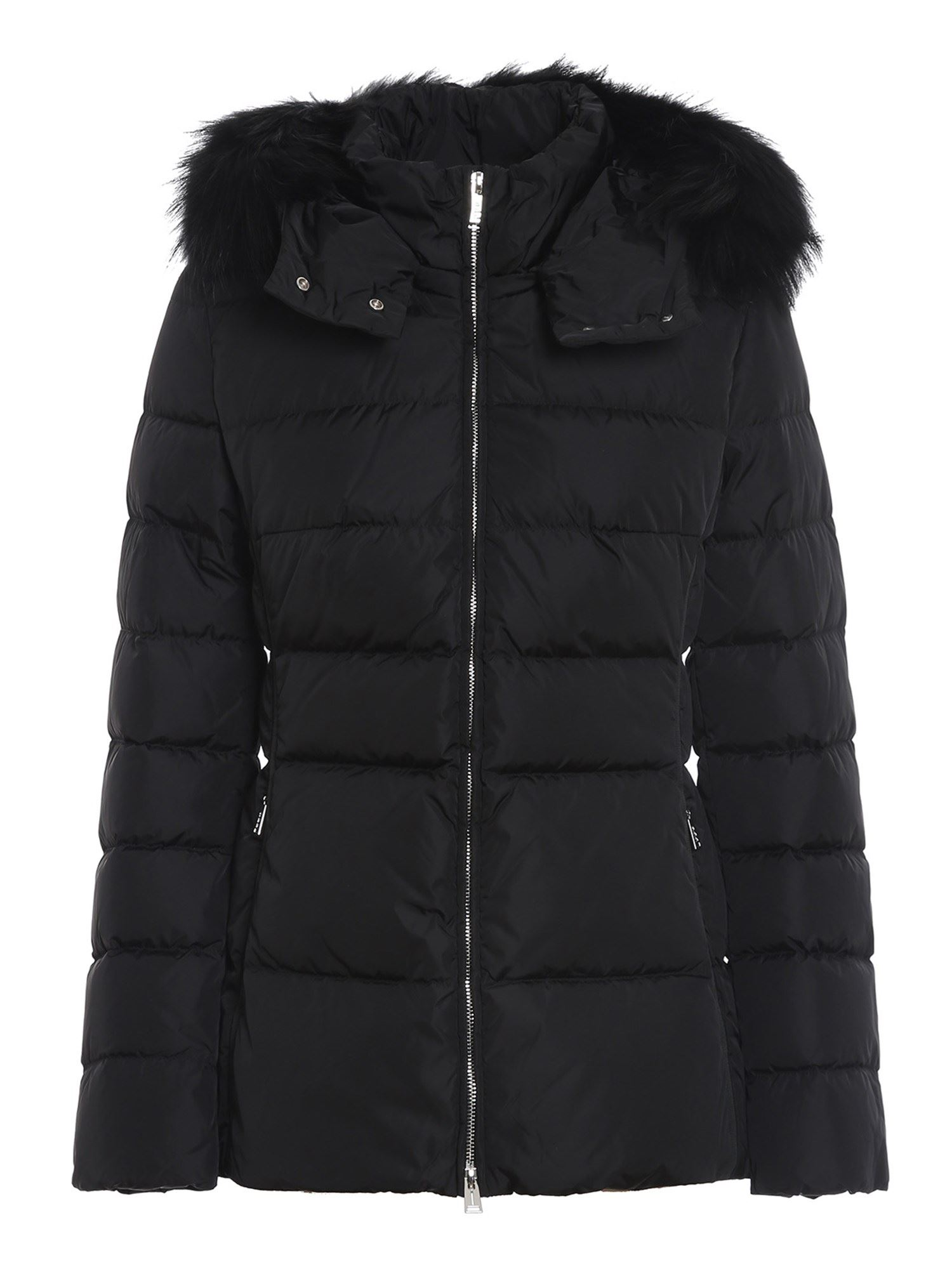 Add Downs ADD BLACK QUILTED SHORT PUFFER JACKET