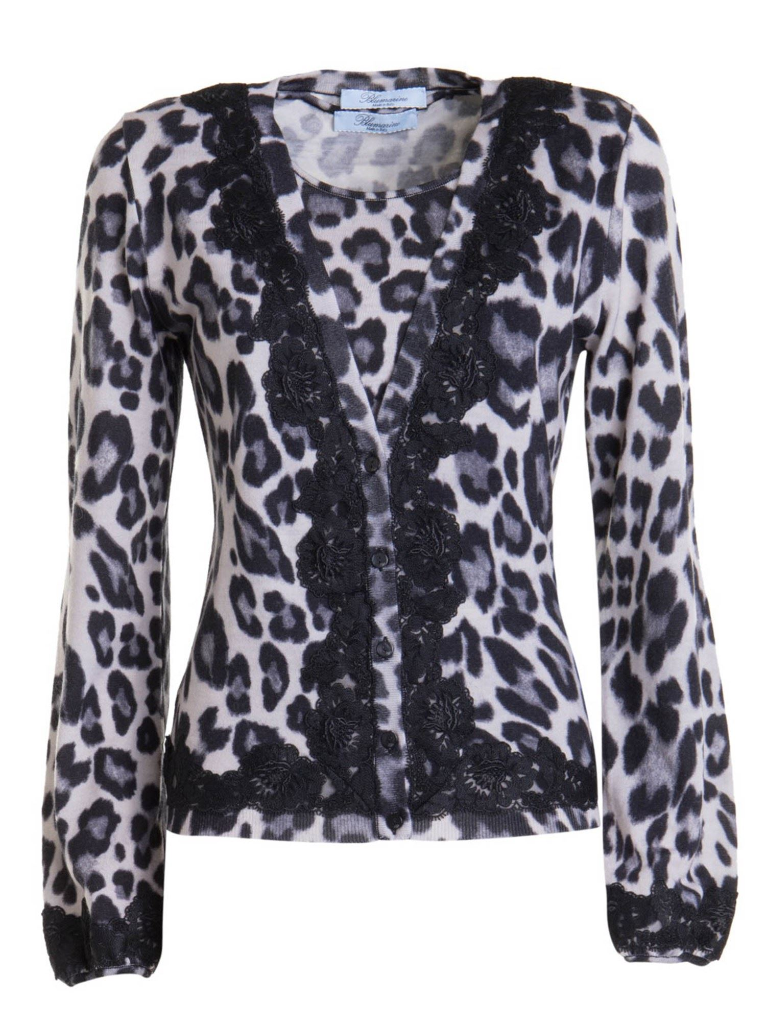 Blumarine ANIMAL PRINT WOOL TWIN-SET