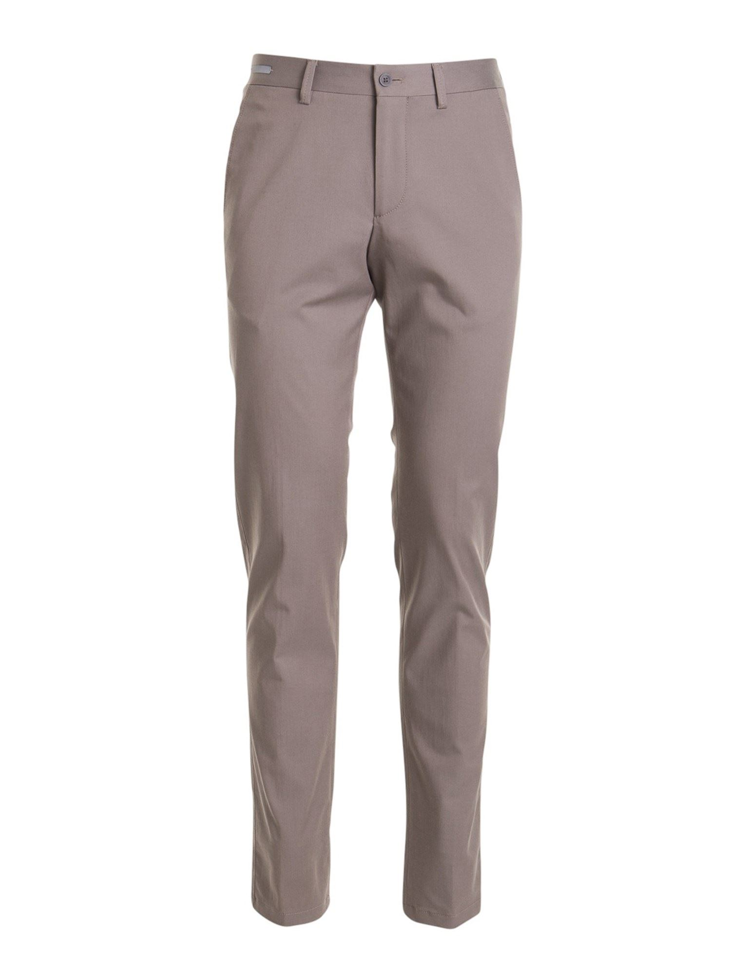Corneliani BEIGE COTTON BLEND TROUSERS