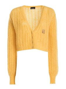 Ermanno by Ermanno Scervino - Wool-alpaca blend cropped cardigan