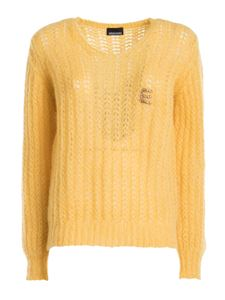 Ermanno by Ermanno Scervino - Drilled wool-alpaca bland jumper