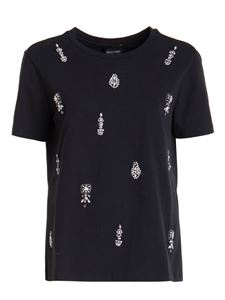 Ermanno by Ermanno Scervino - Embellished cotton T-shirt in black
