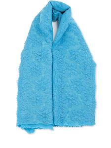 Ermanno Scervino - Light blue wool blend stole