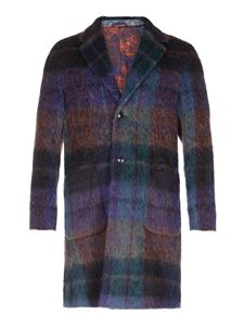 Etro - Checked single breasted coat in multicolor