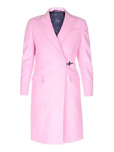 Fay - Wool and cashmere hook coat in pink
