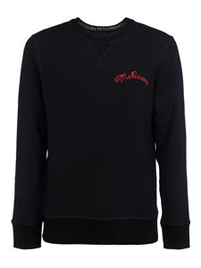 Alexander McQueen - Black cotton sweatshirt