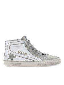 Golden Goose - Slide distressed effect sneakers in white