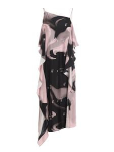 Off-White - Liquid Melt Waves dress in black and pink