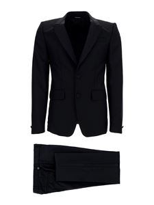 Givenchy - Wool-mohair blend tuxedo in black