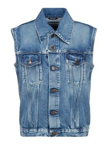 Maison Margiela - Recycled denim waistcoat in light blue