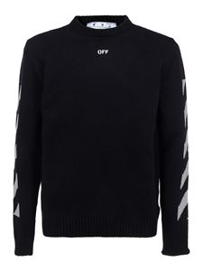 Off-White - Pullover girocollo Arrows nero