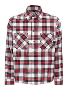 Off-White - Arrows check print shirt in red