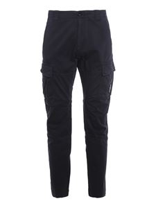 CP Company - Stretch cotton cargo pants in blue