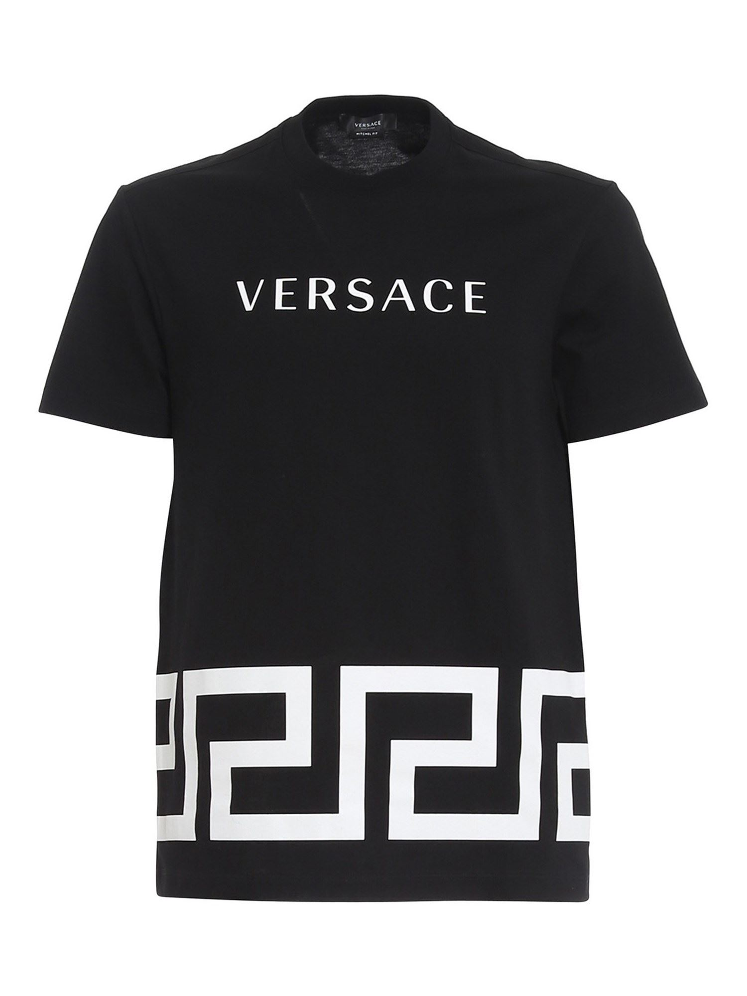 Versace MOSAIC PRINTED T-SHIRT IN BLACK