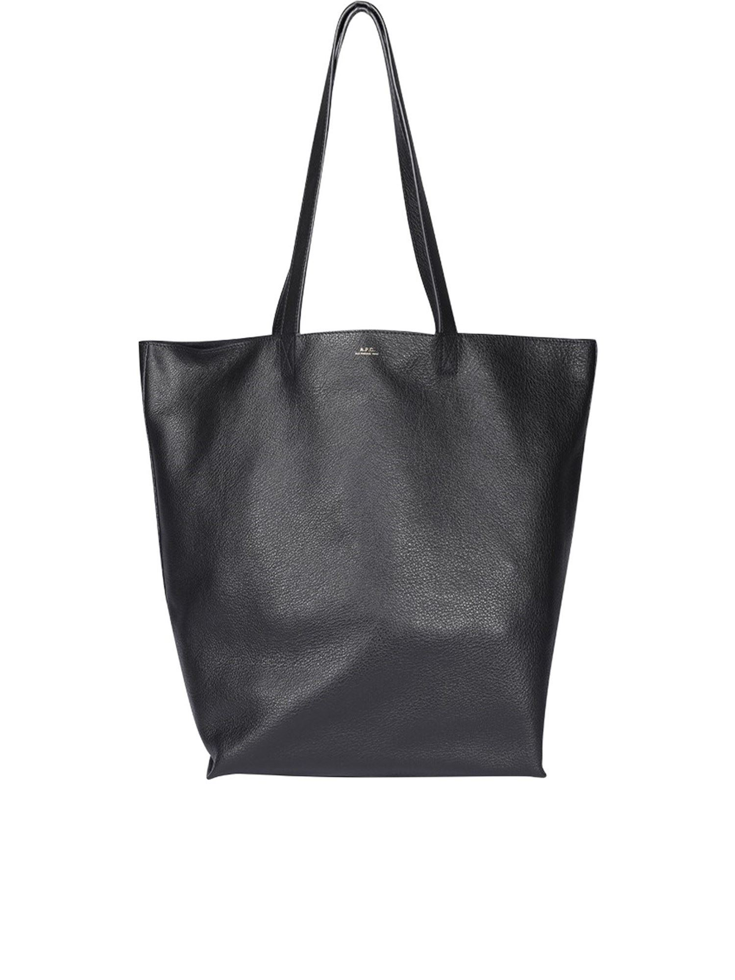 A.p.c. Leathers MAIKO TOTE IN BLACK