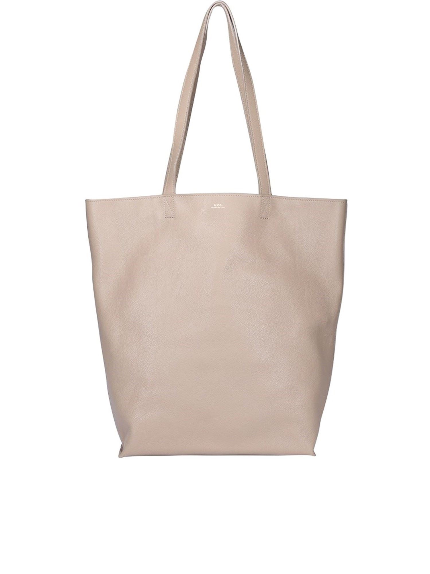A.p.c. Leathers MAIKO TOTE IN BEIGE