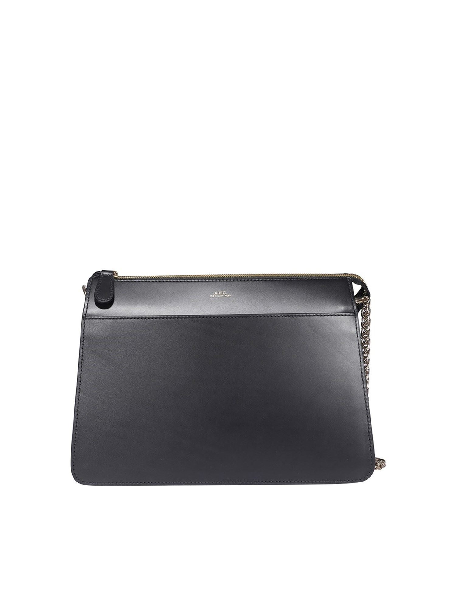 A.p.c. ELLA LARGE CROSS BODY BAG IN BLACK