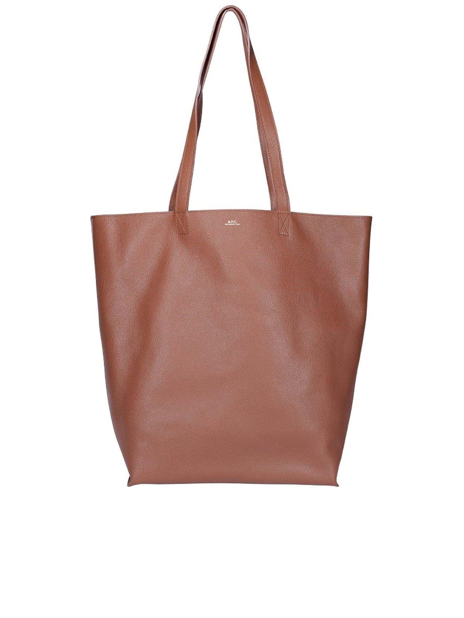 A.p.c. Leathers MAIKO TOTE IN BROWN