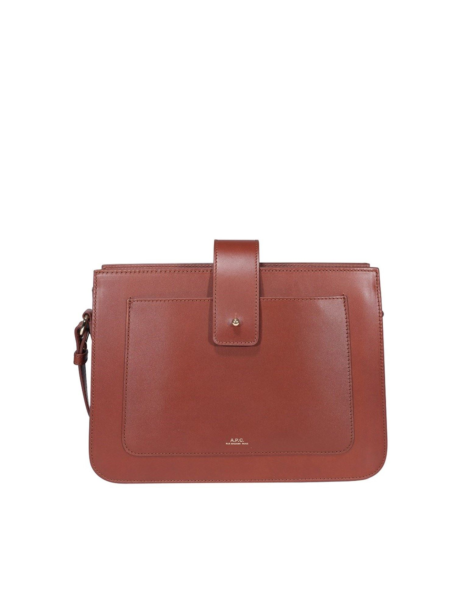 A.p.c. Leathers ALBANESHOULDER BAG IN BROWN