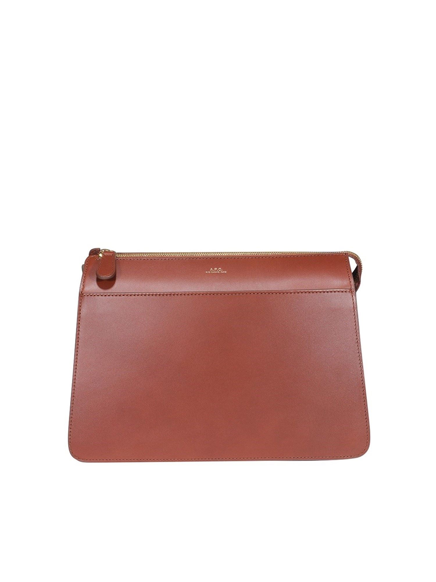 A.p.c. Leathers ELLA LARGE CROSS BODY BAG IN BROWN