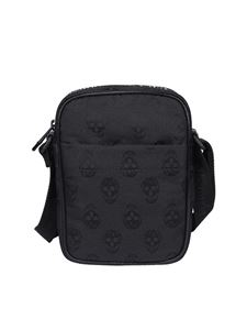 Alexander McQueen - Biker Skull cross body bag in black