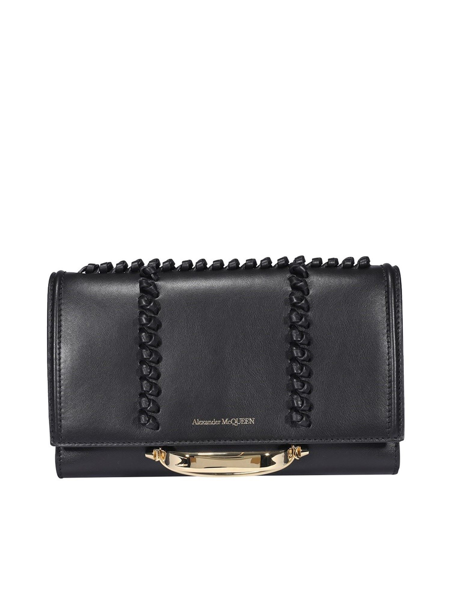Alexander Mcqueen ALEXANDER MCQUEEN THE STORY CLUTCH IN BLACK
