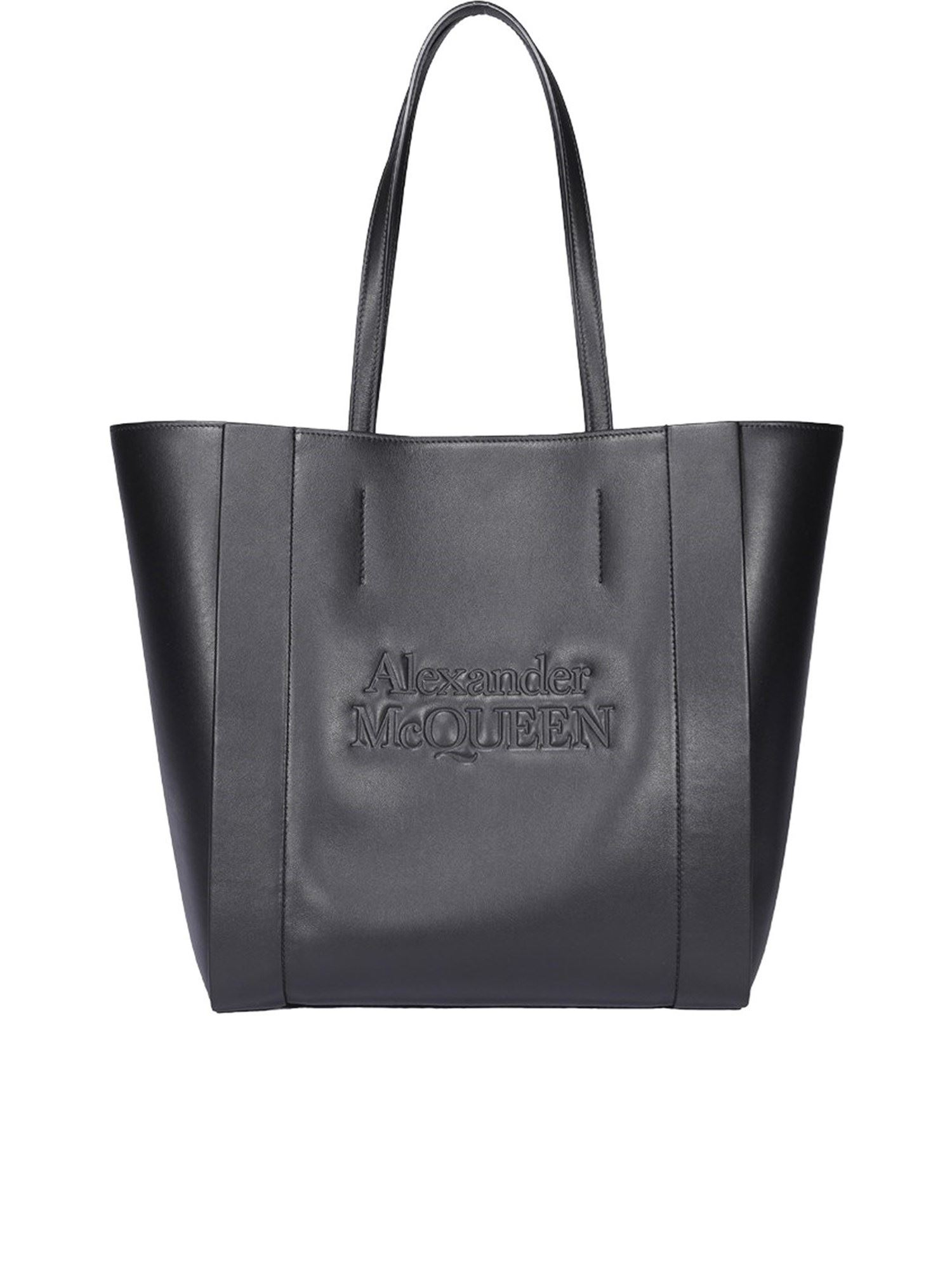 Alexander Mcqueen ALEXANDER MCQUEEN LEATHER TOTE IN BLACK