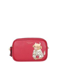 Tory Burch - Tracolla con stampa Ozzie The Ox rossa