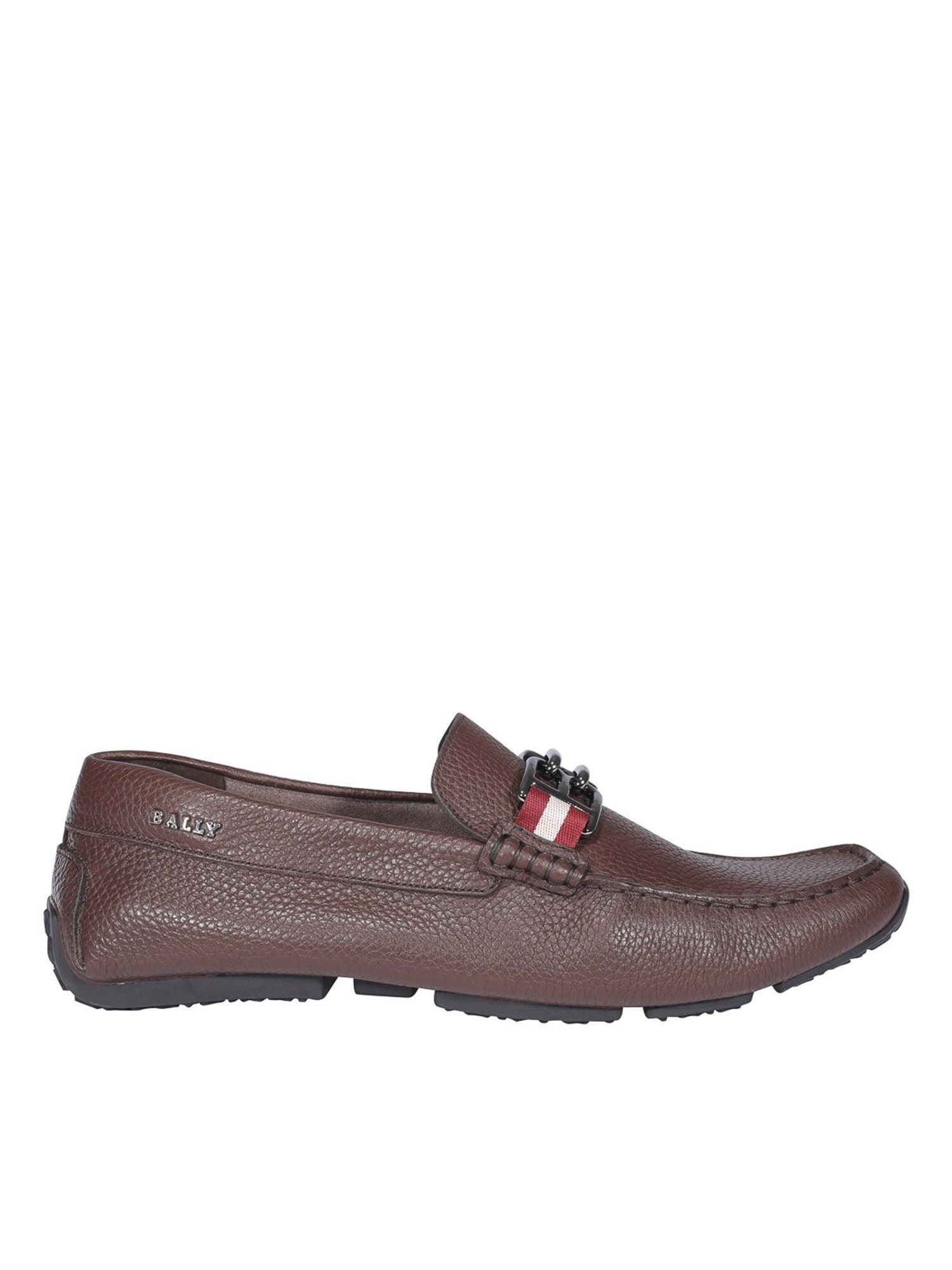 Bally PARSA LOAFERS IN BROWN