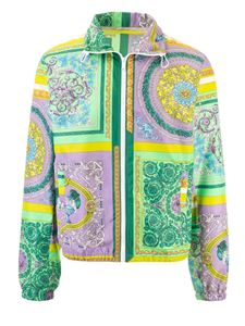 Versace - Mosaic Baroque jacket in green and lilac