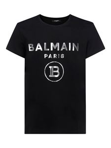 Balmain - Branded T-shirt in black and silver color