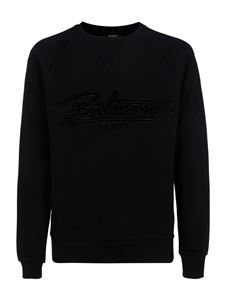 Balmain - Black cotton sweatshirt