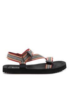 Burberry - Velcro strap rubber sandals in beige