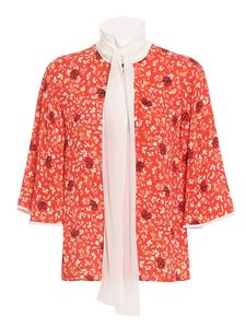 Chloé - C Flower print shirt in red
