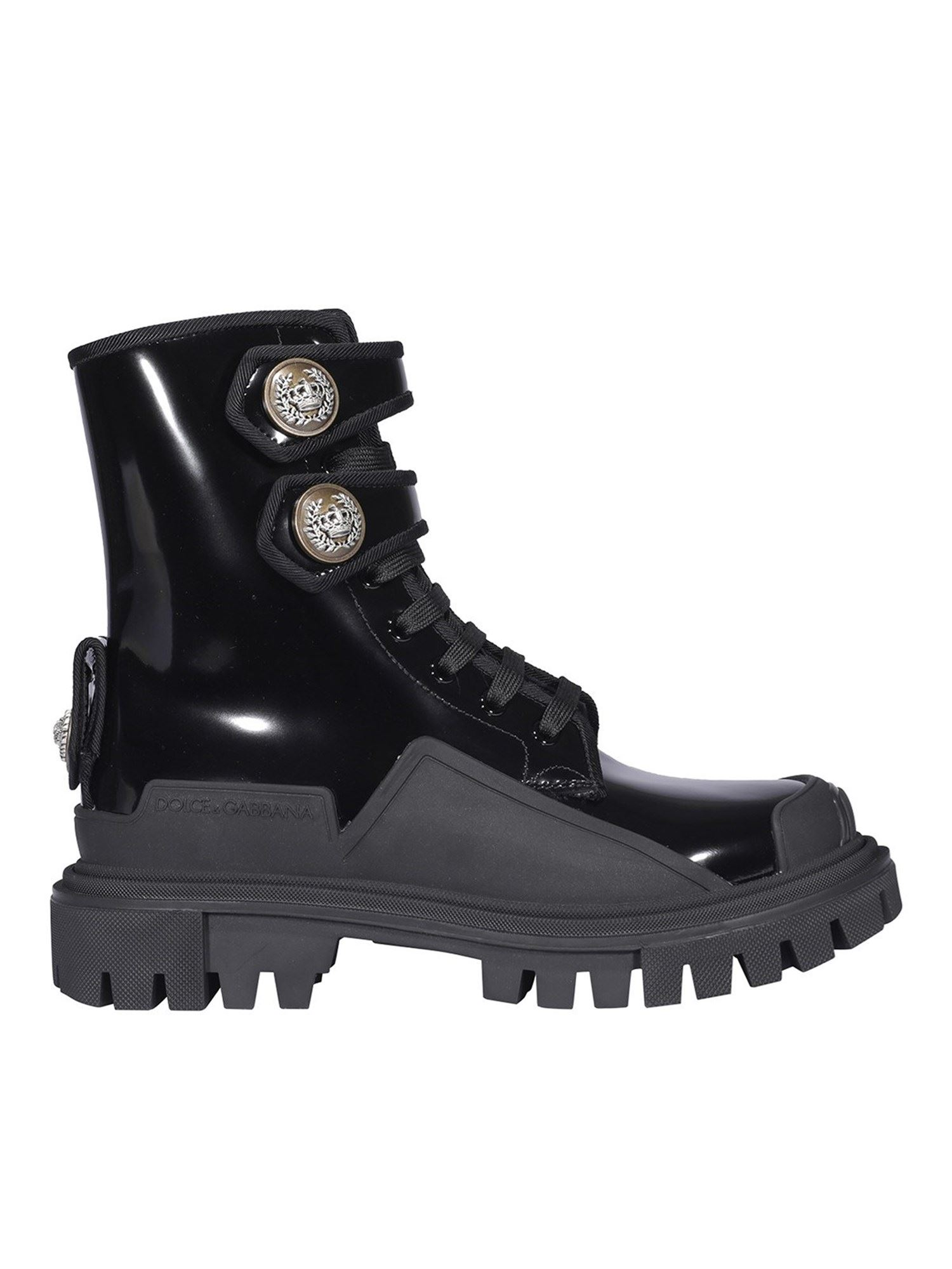 Dolce & Gabbana Boots HI TREKKING ANKLE BOOTS IN BLACK