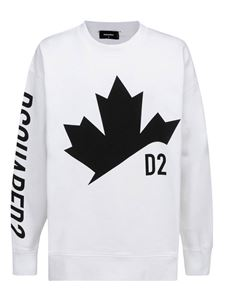 Dsquared2 - Printed cotton sweatshirt in white