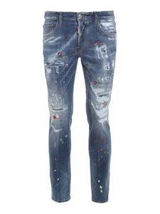 Dsquared2 - Skater rhinestone printed jeans in blue