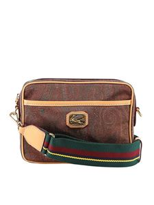 Etro - Paisley print cross body bag in brown