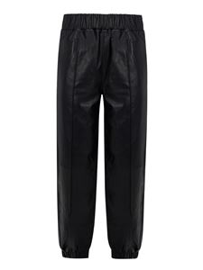 Ganni - Leather trousers in black